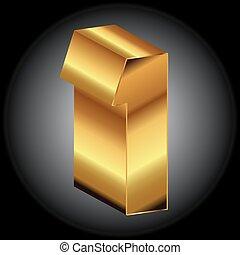 Golden 1 vector 3d