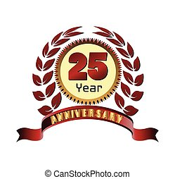 Laurel wreath 25 years anniversary