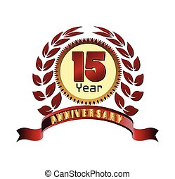 Laurel wreath 15 years anniversary