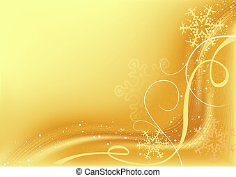 Golden Abstract Christmas - christmas background...