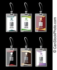 Name tag set, Identification Card, ID card collection