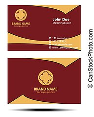 Red and yellow business card