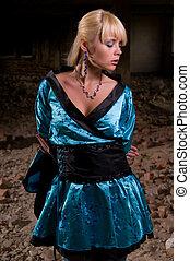 a woman in eastern dress