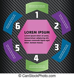 Vector circle infographic. Template