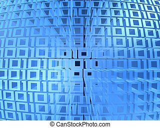 digital code - 3d rendered illustration of a digital...