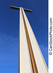 Sunlit Papal Cross in Dublin Phoenix Park