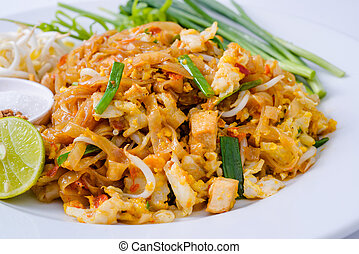 Tailandia, Tailandia, frito, alimentos, popular, con,...