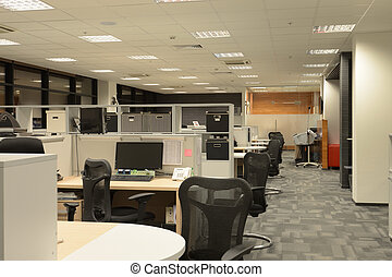 Office Interior - Interior of modern office with open space
