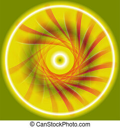 Red green yellow Background