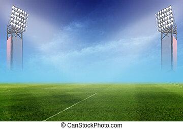 Soccer field, Soccer stadium