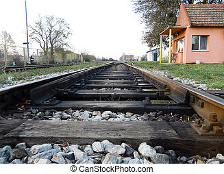 The crossover on the railway - Crossover to the railway line...