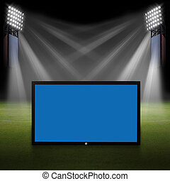 TV on Soccer field, Soccer stadium