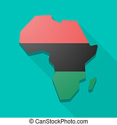 Africa continent map icon with a - Isolated Africa continent...