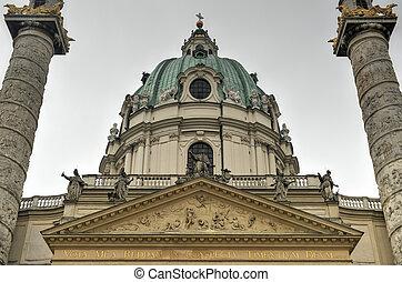 Karlskirche, Vienna - Karlskirche (Saint Charles Church) in...