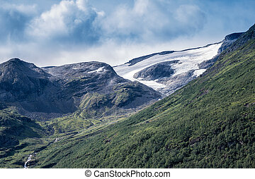 Landscape in Norway - Landscape in the mountains of  Norway.