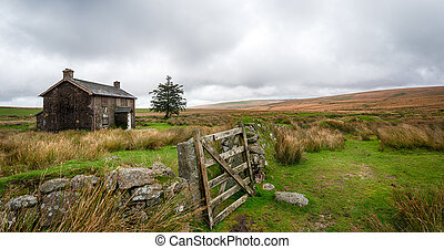 Dartmoor National Park - A derelict and abandoned farmhouse...
