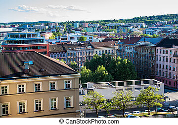 Skyline of Brno, Czech Republic
