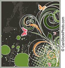 Abstract Flourish Background - Abstract Flourish Vector...