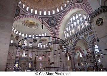 Suleymaniye Mosque, Istanbul - Interior of Suleymaniye...
