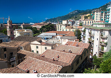 Aerial view of Salerno, Italy