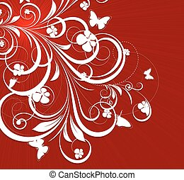 Flourish Background - Artistic Decorative Swirl Flourish...