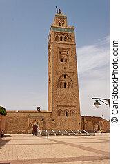 Kotubia minaret in Marrakesh, Morocco