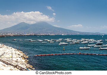 View of a marina in Naples