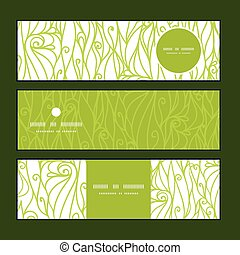 Vector abstract swirls texture horizontal banners set...