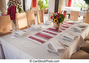 Ukrainian decorated table - Traditional ukrainian...
