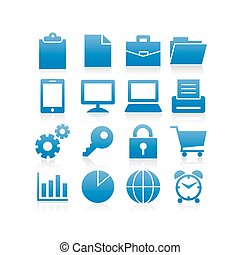 Business icon set - vector illustration created by using...