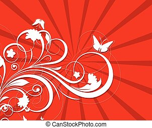 Decorative Flourish Background - Abstract Decorative Holiday...