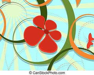 Decorative Flourish Background - Abstract Decorative...