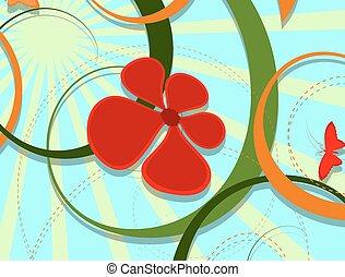 Decorative Flourish Background - Abstract Decorative...