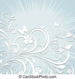 Vintage Flourish Background - Abstract Vintage Flourish...