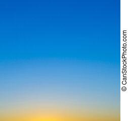blue and orange sky in Munich, Germany