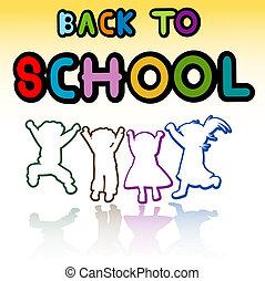 back to school - happy kids, back to school