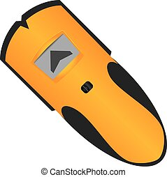 Electronic Stud Finder - Electronic device hidden behind a...
