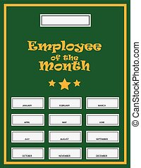 Employee Award Kit - Employee Of The Month Award Kit Vector...