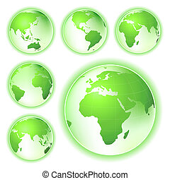 go green planet earth maps - environmental conservation...
