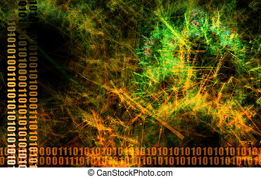Orange World Wide Web Abstract Background Art
