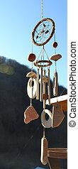 de madera, carillones, viento
