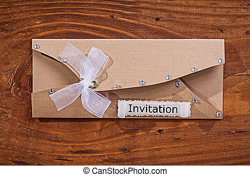 vintage invitation envelope