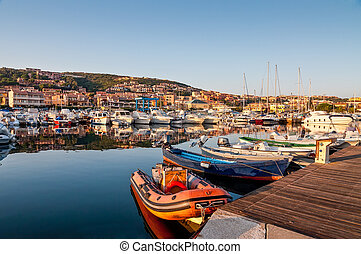 Palau harbour, Sardinia - Nice morning in Palau port,...