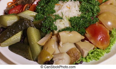 Assorted pickled vegetables - Set pickled vegetables with...