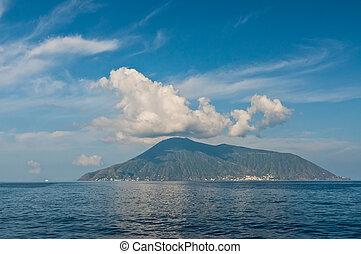 View on Salina island