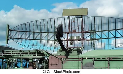Military radar operating on the field