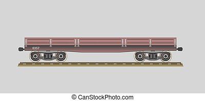 Flatcar. Vector illustration. EPS 10. Opacity