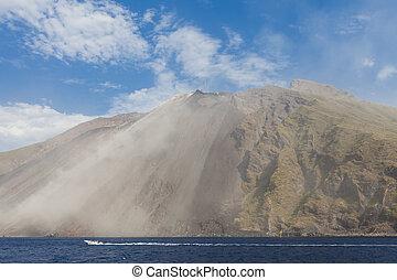 Stromboli volcano - View at Stromboli volcano in Italy