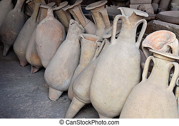 Pompeii amphoras - Pottery issued from excavations of...