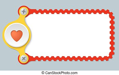 vector perforated frame with heart